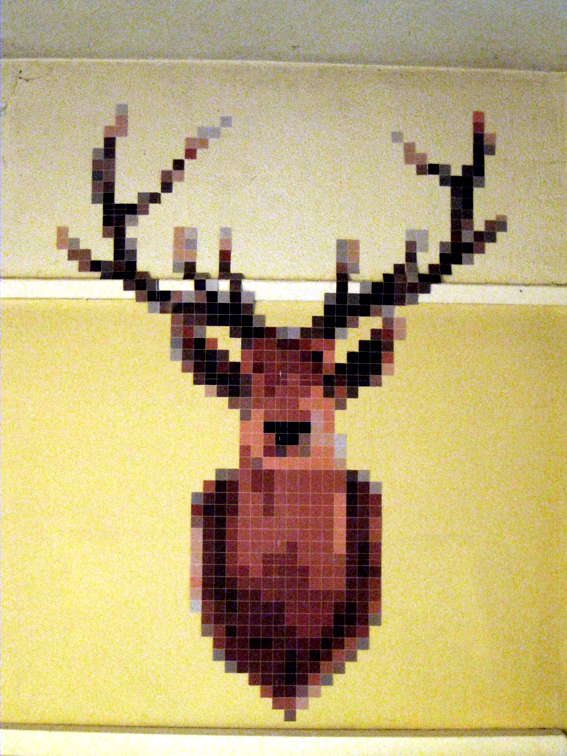 Pixel Deerhead Close Up