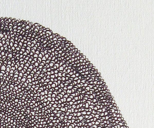 Circle print close up