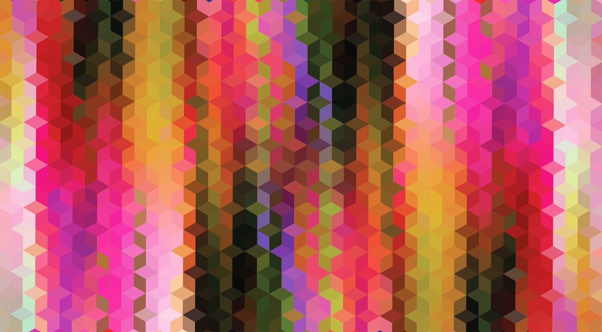 Hexagon Coloured Pattern Mark Catley Design