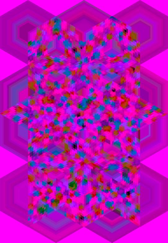 Pink Purple hexagons
