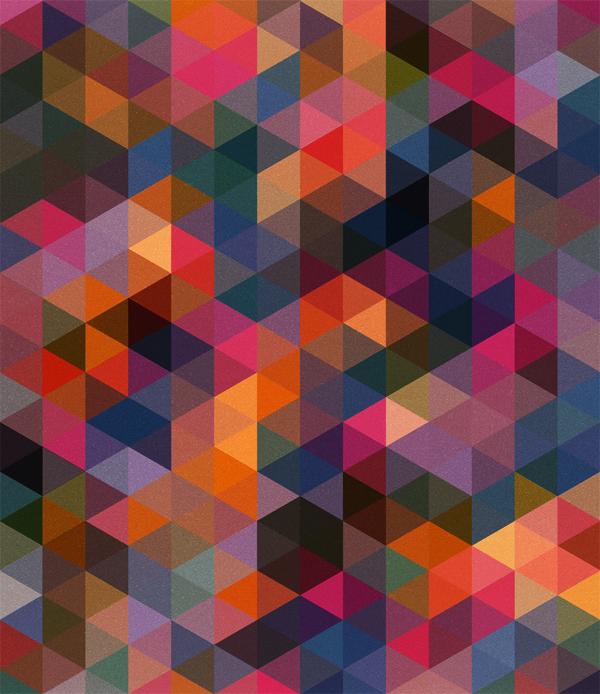 Triangles Pattern Dark Colours