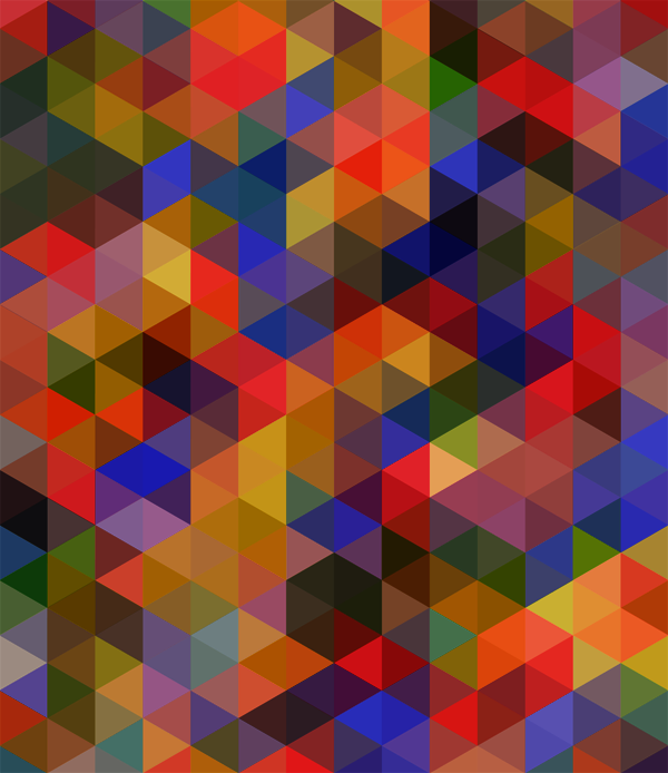 Triangles Pattern Darker Colours