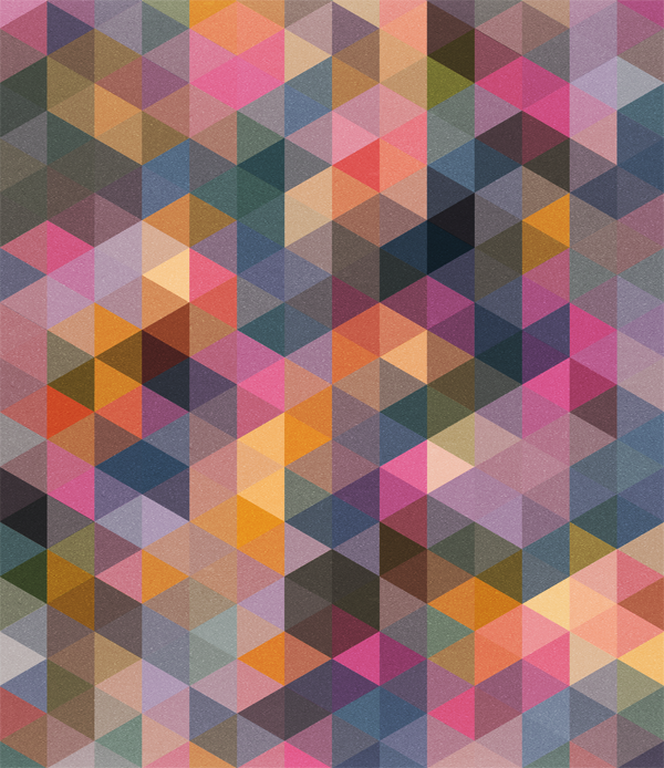 Triangles Pattern Light Colours