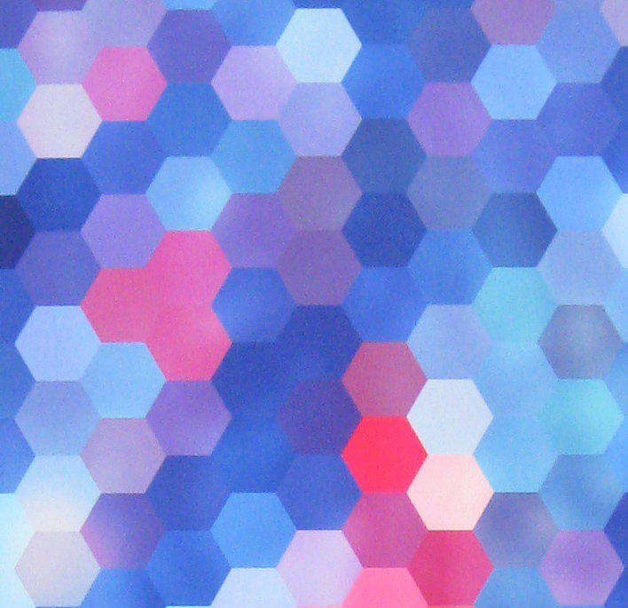 Coloured Hexagons Close up