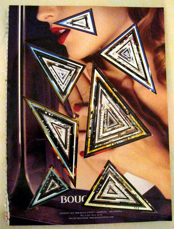Magazine Trash Triangles