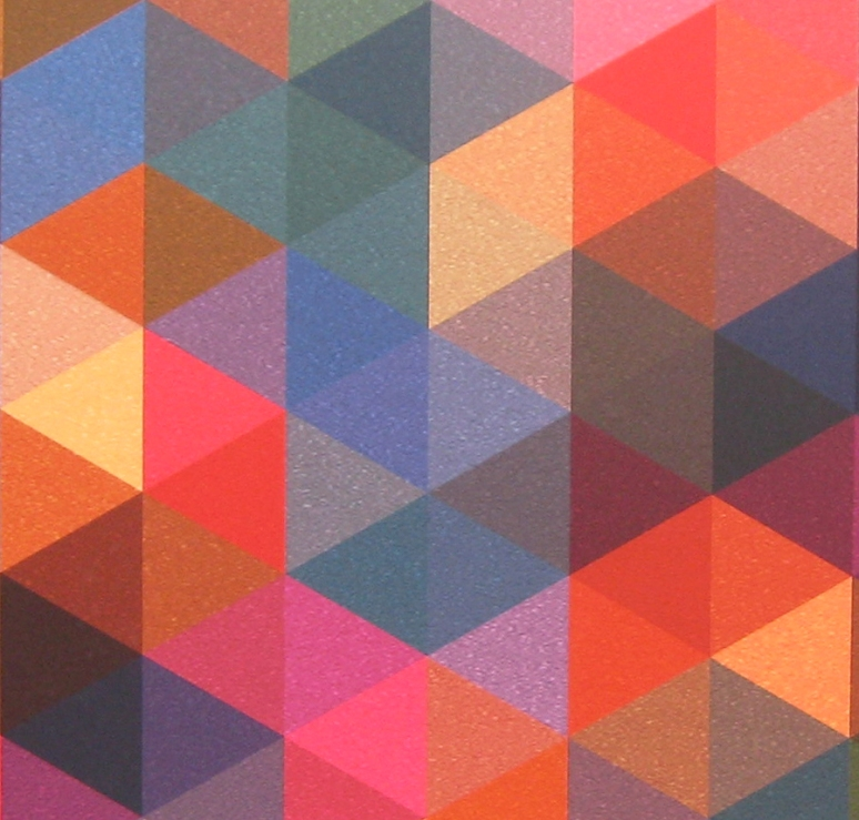 Triangles Coloured Texture Close Up