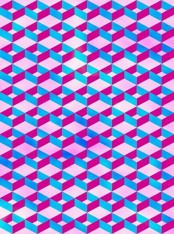 Blue Pink Pattern Cross #2