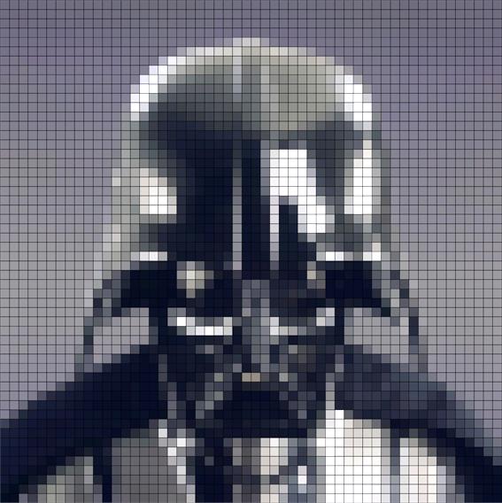 Darth Vader Pixel Mark Catley Design