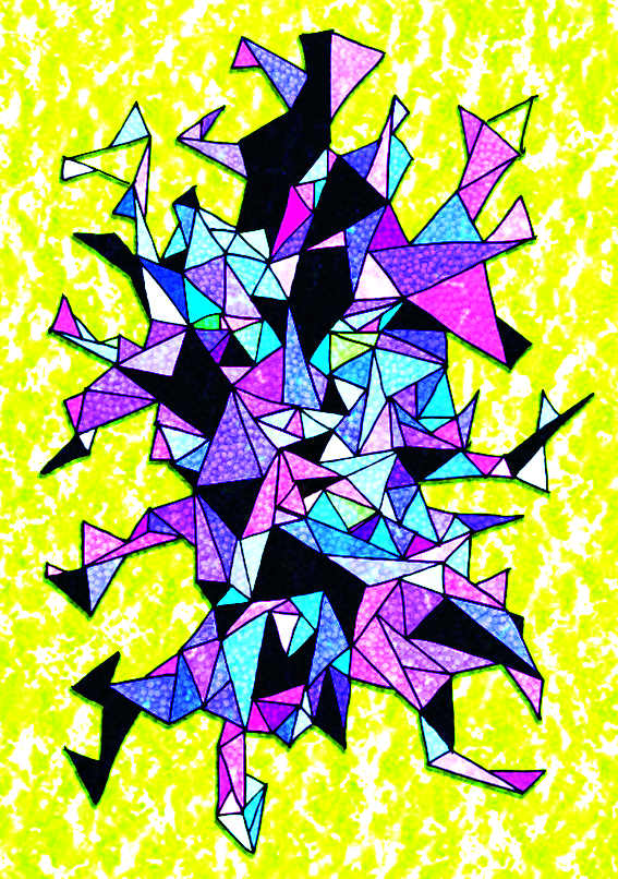 Triangle Mess Coloured # 1