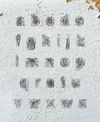 Spiderweb Font a-z